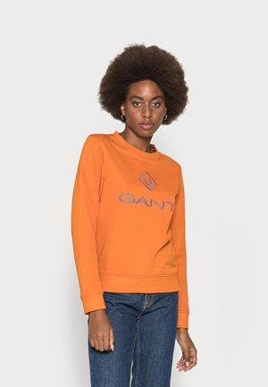 COLOR LOCK UP NECK  - Mikina - savannah orange