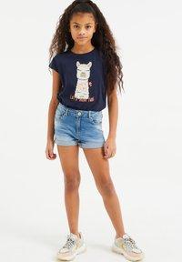 WE Fashion - T-shirts print - dark blue - 0