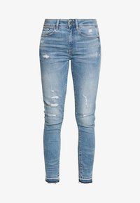 G-Star - HIGH SKINNY RIPPED ANKLE - Jeans Skinny Fit - vintage ripped sky - 3