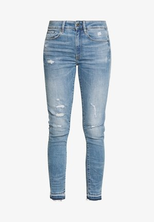 HIGH SKINNY RIPPED ANKLE - Vaqueros pitillo - vintage ripped sky