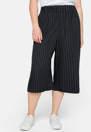 Pantalon classique - nachtblau-weiß
