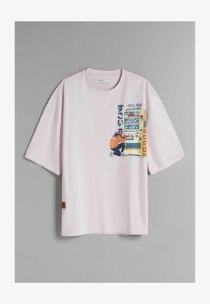 SHIBUYA RAMEN - T-shirt med print - light pink