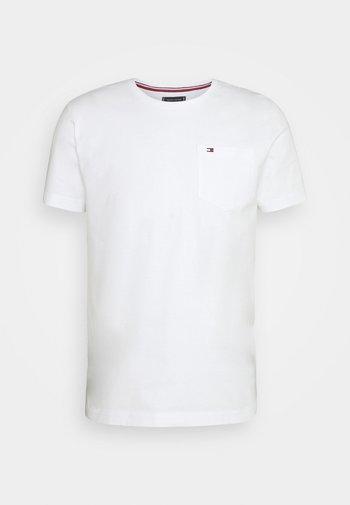 CLASSIC POCKET TEE - T-shirt - bas - white