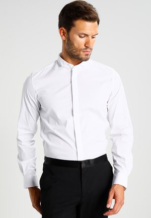 SLIM FIT WITH HIDDEN BUTTONING - Formal shirt - white
