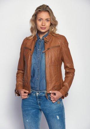 RYANA - Leather jacket - cognac