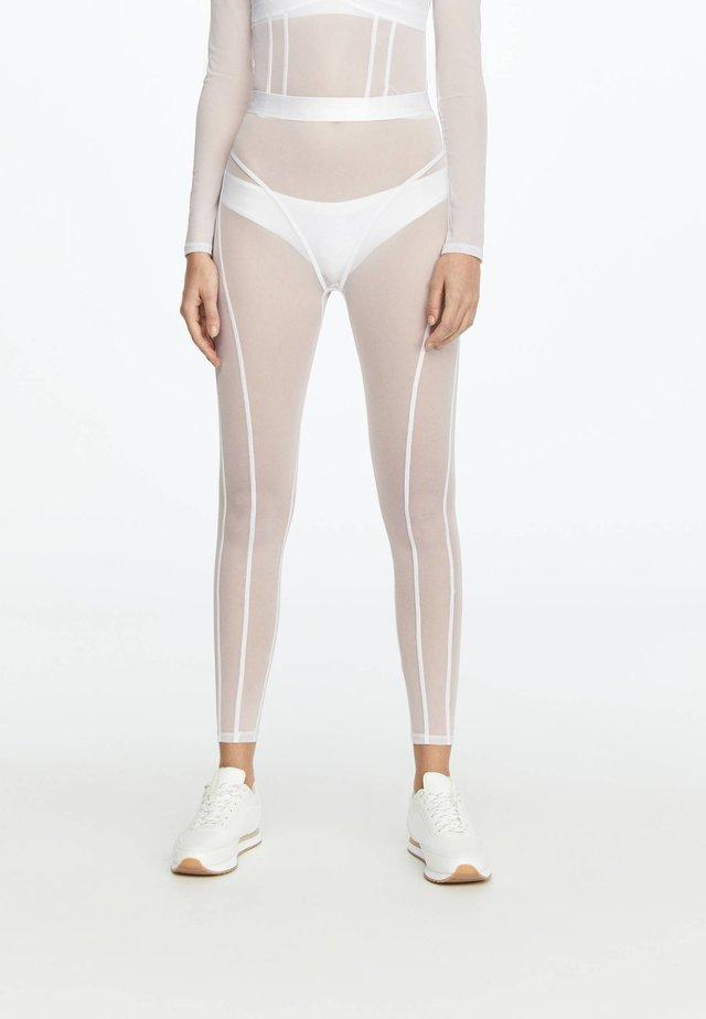 LEGGINGS AUS TÜLL 31217251 - Leggings - white