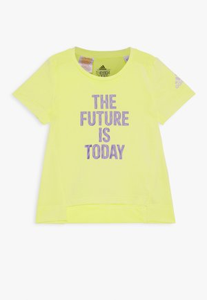 TEE - T-shirt med print - yellow/white