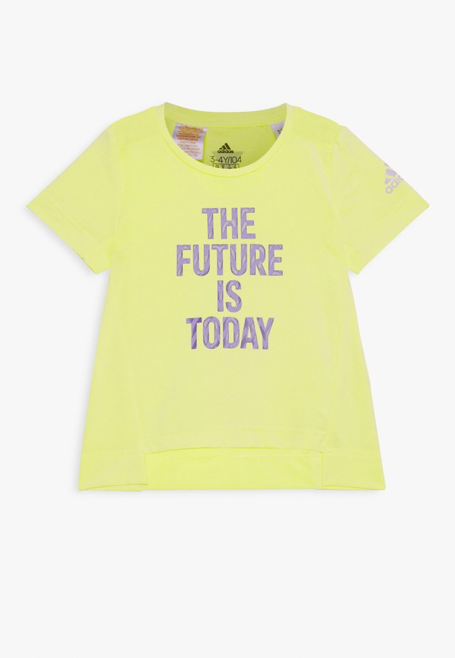 TEE - T-shirt con stampa - yellow/white
