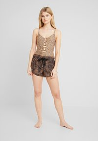 Seafolly - SAFARI SPOT - Bikini bottoms - black - 1