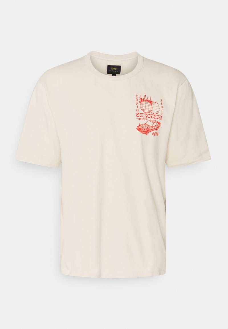 Edwin - TOKYO SABOTAGE UNISEX - Print T-shirt - sand/beige/offwhite