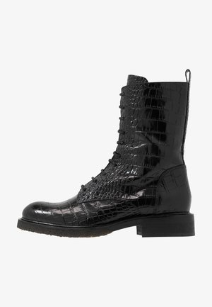 Bottines à lacets - black louisiana