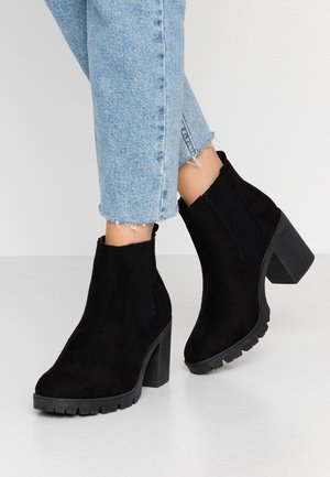 BYRON UNIT - High heeled ankle boots - black