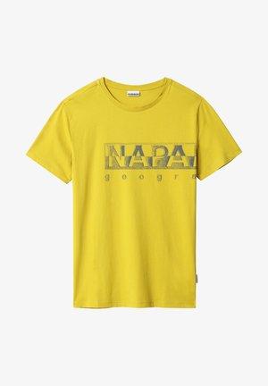 SALLAR LOGO - T-shirt con stampa - yellow moss