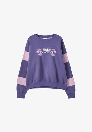 Sweatshirt - mottled purple