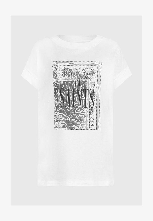 ZEBURA IMOGEN  - Print T-shirt - white