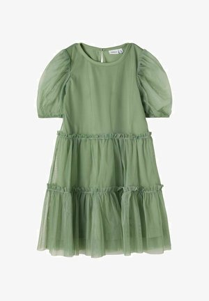 Cocktail dress / Party dress - hedge green