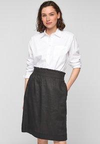 s.Oliver - A-line skirt - black melange - 3
