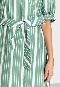 esmé studios - WRAP AROUND DRESS - Day dress - frosty spurce/snow white - 3