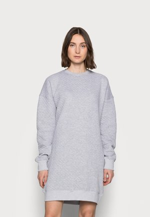 QUILTED SWEATER DRESS - Day dress - grey