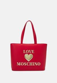 HEART LOGO SHOPPER - Tote bag - rosso