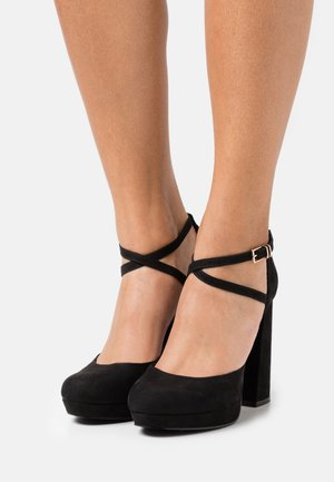 ONLPAIRY 4 LIFE CROSS STRAP - Zapatos altos - black