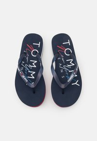 Tommy Jeans - THONG MID BEACH - T-bar sandals - twilight navy - 5