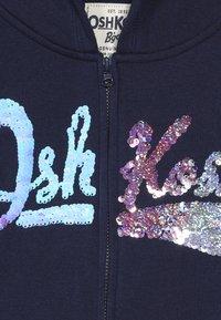 OshKosh - LOGO HOODIE - Huvtröja med dragkedja - dark blue - 5