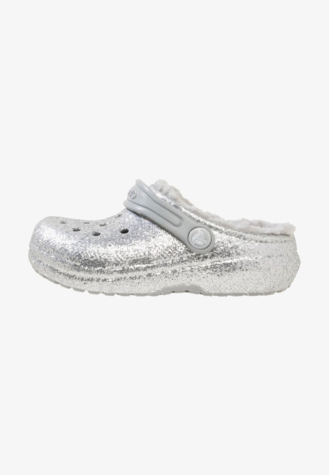 CLASSIC GLITTER LINED  - Clogs - silver