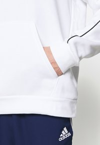 adidas Performance - CORE ELEVEN FOOTBALL HODDIE SWEAT - Felpa con cappuccio - white - 3