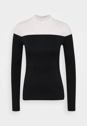 COLOR BLOCK JUMPER - Sweter - black/white