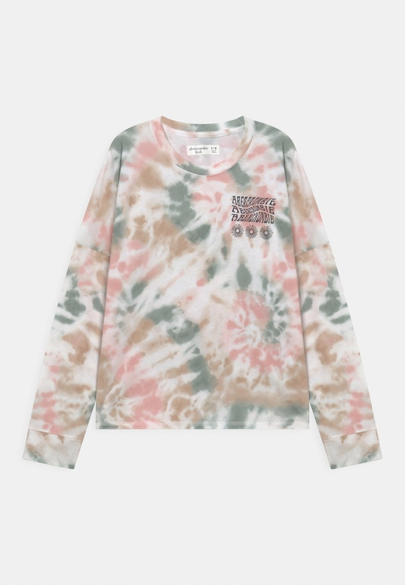 Abercrombie & Fitch - TRANSITIONAL TEE PATTERN - Long sleeved top - beige