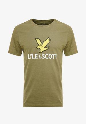 LOGO - T-shirt imprimé - lichen green