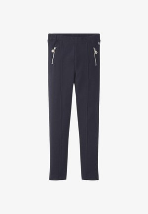 HOSEN & CHINO LEGGINS MIT REISSVERSCHLUSS-TASCHEN - Leggings - Trousers - night sky blue