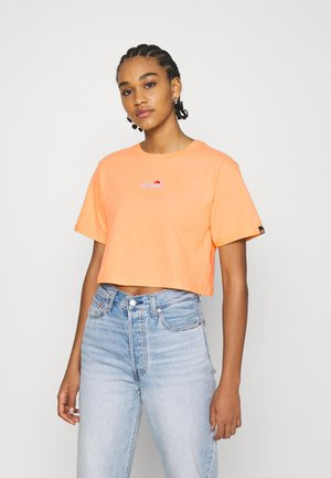 NANCIE - Print T-shirt - light orange