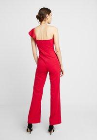 True Violet - ONE SHOULDER FRILL - Jumpsuit - red - 2