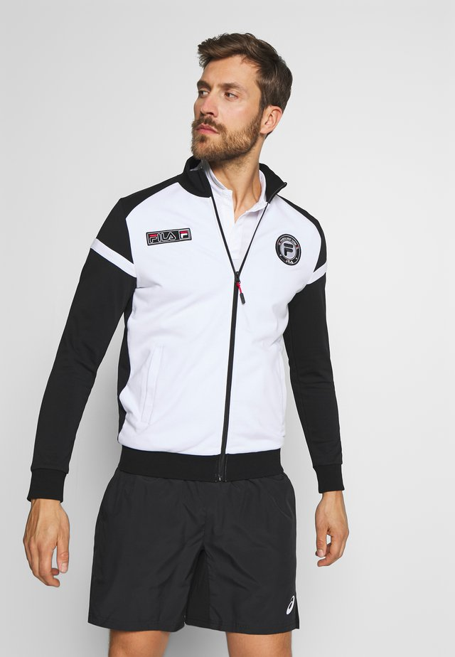 SMUDO - veste en sweat zippée - black/white