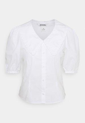 SANDRA BLOUSE - Button-down blouse - white