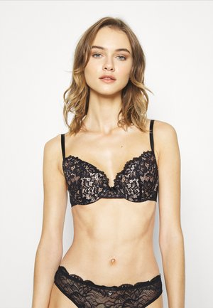 TIMELESS AFFAIR PLUNGE - Underwired bra - black