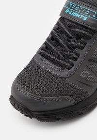 Skechers - DYNAMIC FLASH - Trainers - charcoal/black/turquoise - 5