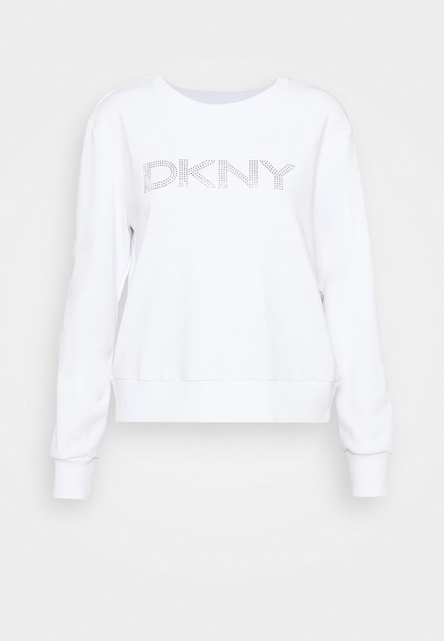 DIAMANTE CROPPED LOGO - Sweatshirt - ivory