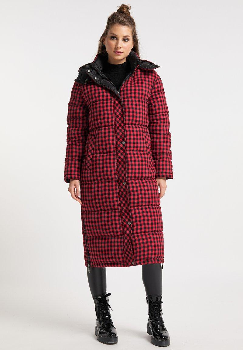 myMo ROCKS - Winter coat - rot schwarz