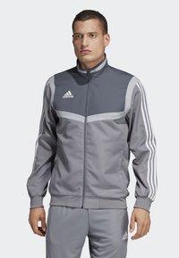 adidas Performance - TIRO 19 PRE-MATCH TRACKSUIT - Training jacket - grey/ white - 0