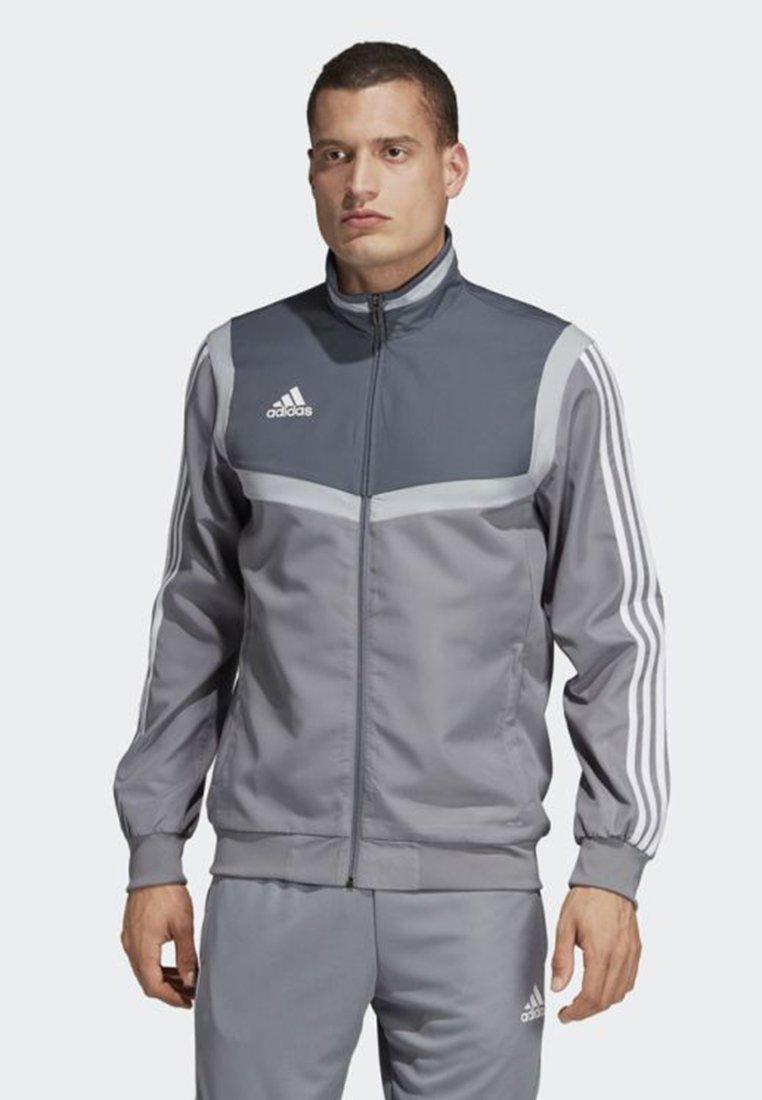 adidas Performance - TIRO 19 PRE-MATCH TRACKSUIT - Training jacket - grey/ white