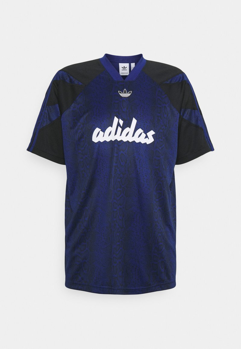 adidas Originals - BALL TEE - Triko spotiskem - victory blue/black