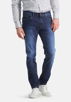 Straight leg jeans - navy plain