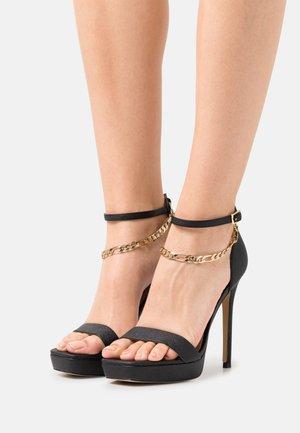 SCARLETTCHAIN - Sandals - black