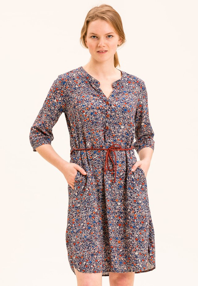 BERGILD - Day dress - dunkelblau mit blumenprint