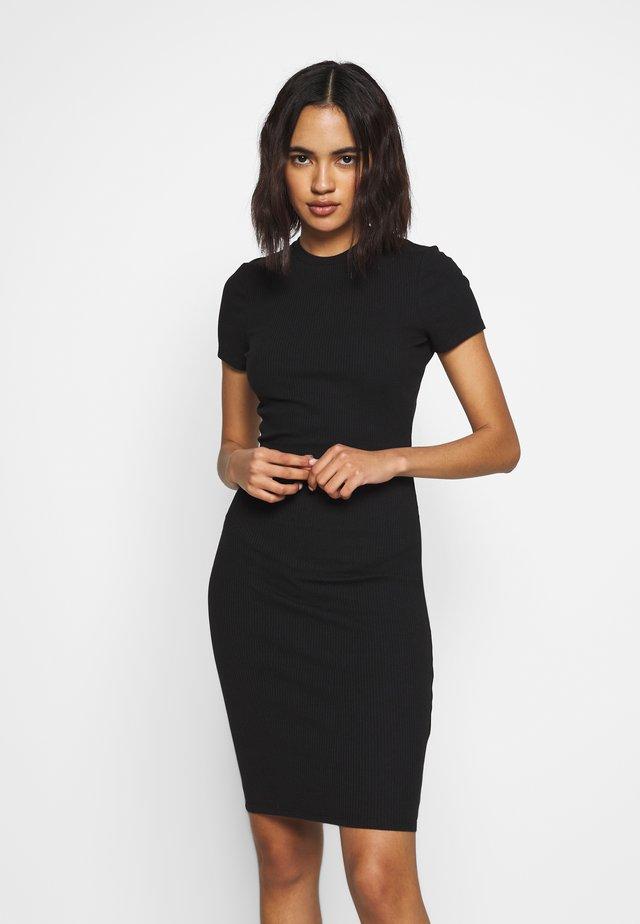GISELLE SHORT SLEEVE DRESS - Etui-jurk - black