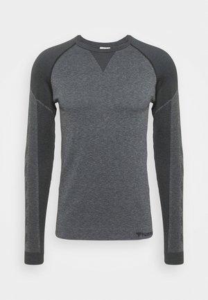 KENT SEAMLESS - Treningsskjorter - black melange