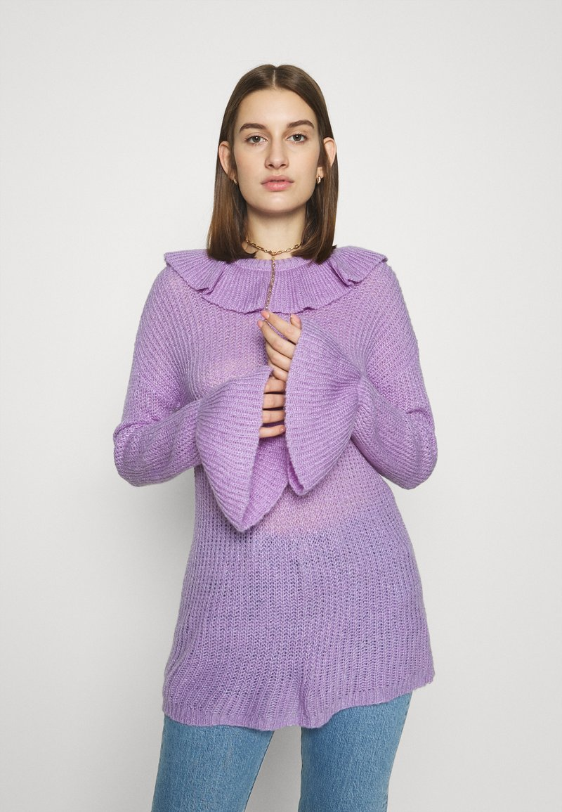 Who What Wear - RUFFLE - Jumper - lavender
